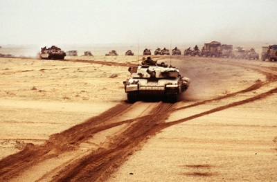 British Challenger tanks during the Gulf War